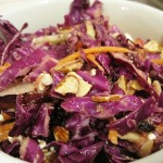 Crunchy &amp; Colorful Winter Salad with Red Onion Vinaigrette