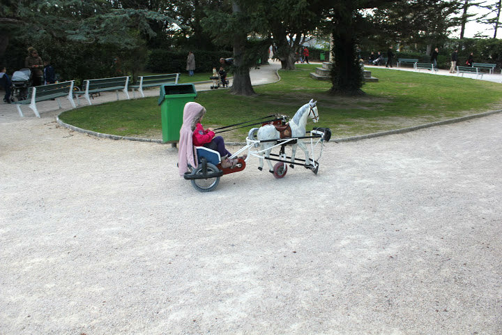 how hilarious are these things?  kids were riding them all over the park!